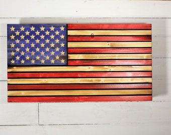 Wooden Flag with hidden gun storage, Concealment Flag, Wooden American flag with Hidden Compartment, concealment furniture