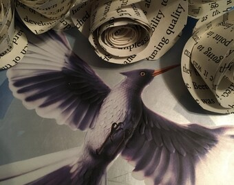 The Hunger Games Mockingjay Book Page Flowers * wedding craft mother's day gift flower bouquet classic book ya