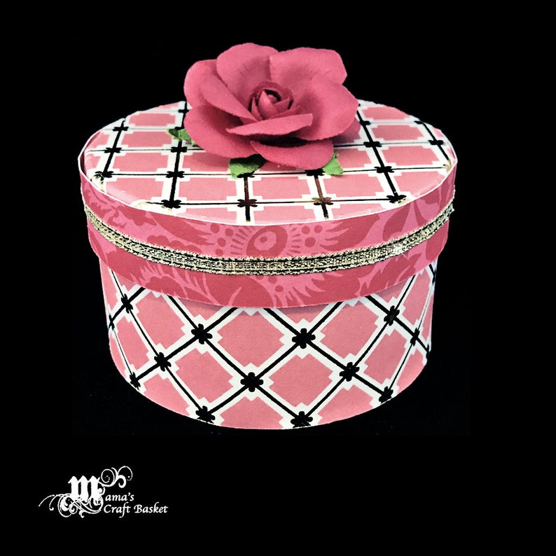 Pink and Gold Paper Mache Jewelry Box Pink Roses Shabby Chic Spring Rose Collection Mother/'s Day Gift Customizable Gift Box Storage