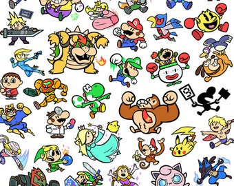"Super Smash Bros 13x19"" Art Print"