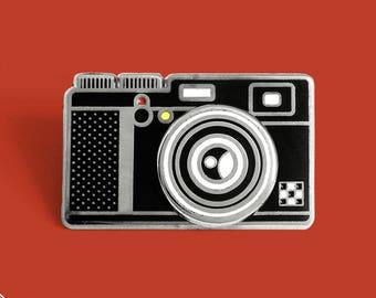 Fuji Camera Enamel Lapel Pin Badge with Spinning Lens / Collaboration with Bee Gats // Photography Cleveland Inspired Hard Enamel Pin