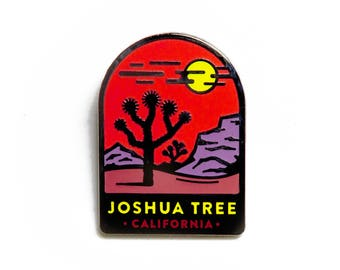 Joshua Tree Enamel Lapel Pin Badge // Hoof and the Horn Collaboration // National Parks California Yucca Valley Desert