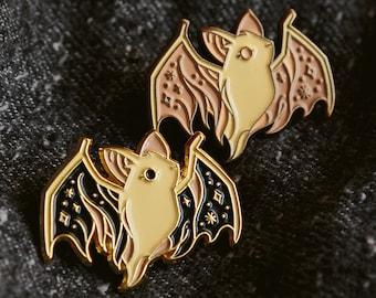Ghost Bat Enamel Lapel Pin Badge / Artist Series pin by Teagan White / Halloween Cute Spooky Dead Animal Friend Forest
