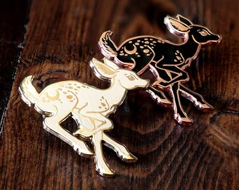 Deer Fawn Enamel Lapel Pin / Ghost Animal / Patronus Pin / Woodland Animal Pin / Artist Series pin by Erica Williams