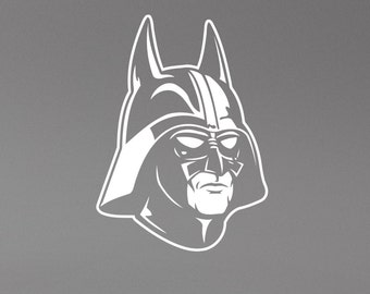 Darth Vader Wall Decal Star Wars Sticker Batman Mask Art Decorations for Home Housewares  Living Room Bedroom Dorm Movie Decor sws12