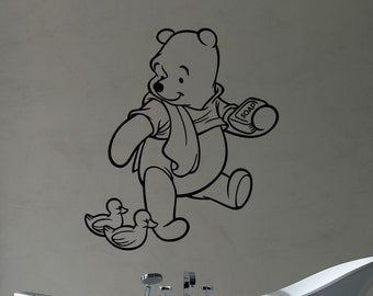 Winnie The Pooh Wall Art Decal Vinyl Sticker Disney Movies Decorations for Home Bathroom Boys Girls Room Nursery Baby Shower Decor wtpo11
