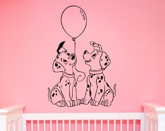 Dalmatians Wall Decal Vinyl Sticker Disney Cartoon Decorations for Home Housewares Kids Boys Girl Room Bedroom Nursery Decor dlm1