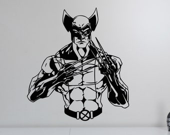 Wolverine Wall Decal Vinyl Sticker Comics Superhero Art X-Men Decorations for Home Teen Kids Boys Room Bedroom Playroom Decor wlv2