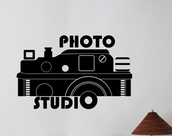 Photo Studio Logo Vinyl Sticker Window Decal Camera Art Decorations for Business Room Office Salon Photo Studio Custom Wall Decor pst4