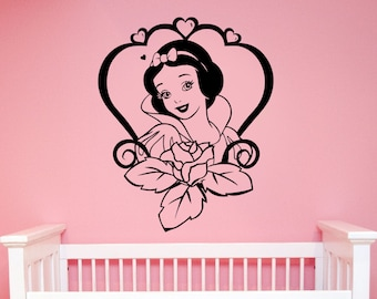 Snow White Wall Decal Vinyl Sticker Seven Dwarfs Disney Art Cartoon Decorations for Home Girls Baby Room Nursery Bedroom Decor snow3