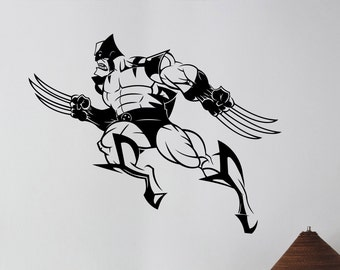 Wolverine Vinyl Decal Wall Sticker Marvel Comics Superhero Art X-Men Decorations for Home Teen Kids Boys Room Bedroom Playroom Decor wlv4