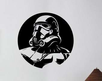 Stormtrooper Wall Decal Vinyl Sticker Star Wars Art Decorations for Home Housewares  Living Room Bedroom Dorm Movie Decor sws2