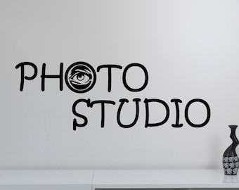 Photography Studio Sign Wall Decal Vinyl Window Sticker Eye Camera Art Decorations for Business Room Office Salon Photo Studio Decor pst2