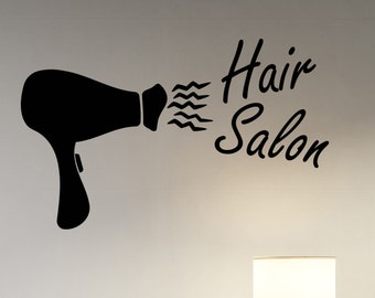 Hair Salon Wall Decal Vinyl Sticker Barber Barbershop Mirror Window Decorations Hairdressing Haircut Hairstyle Salon Decor hair1