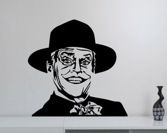 Jack Nicholson The Joker Wall Decal Vinyl Sticker DC Comics Movie Art Decorations for Home Housewares Kids Living Room Bedroom Decor jkr3