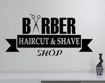 Barbershop Vinyl Wall Decal Sticker Barber's Hair Haircut Hairdressing Salon Window Decorations Interior Art Decor bsh8