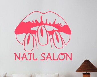Nail Salon Vinyl Wall Decal Window Sticker Manicure Fashion Art Decorations for Office Spa Beauty Hair Salon Room Custom Decor nsl4