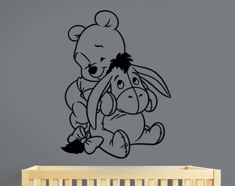 Winnie The Pooh Wall Sticker Eeyore Vinyl Decal Disney Art Decorations for Home Kids Boys Girls Room Nursery Decor wtpo6