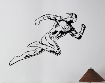 Flash Wall Sticker Vinyl Decal  Comics Superhero Art Decorations for Home Living Room Bedroom Teen Kids Boys Room Decor flh4