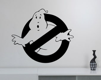 Ghostbusters Logo Sticker Vinyl Wall Decal Movie Art Decorations for Home Housewares Kids Living Room Bedroom Decor ghs1