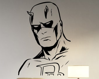 Daredevil Vinyl Decal Wall Sticker Marvel Comics Superhero Decorations for Home Housewares Bedroom Living Room Kids Boys Room Decor ddl1