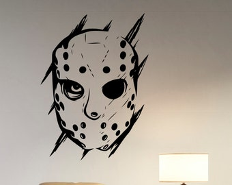 Jason Voorhees Wall Decal Vinyl Sticker Friday the 13th Movie Art Decorations for Home Housewares Living Room Bedroom Horror Decor jvh1