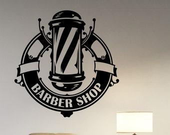 Barbershop Window Decal Vinyl Sticker Logo Art Barber's Hair Haircut Hairdressing Salon Wall Decorations Interior Decor bsh7