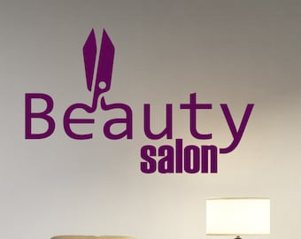 Beauty Salon Logo Wall Decal Vinyl Sticker Make Up Styling Art Decorations Beauty Parlor Shop Window Mirror Decor beauty2