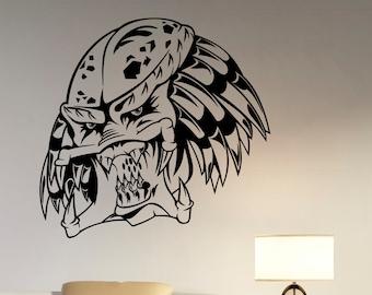 Predator Wall Decal Removable Vinyl Sticker Horror Alien Movie Monster Art Decorations for Home Housewares Living Room Bedroom Decor pr1