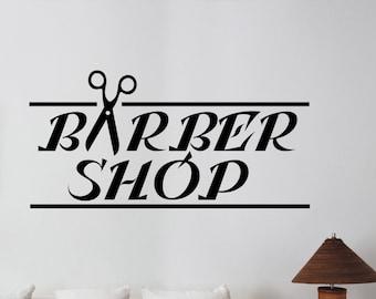 Barbershop Vinyl Window Decal Custom Sticker Logo Art Barber's Hair Haircut Hairdressing Salon Wall Decorations Interior Decor bsh6