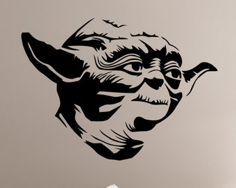 Star Wars Yoda Wall Decal Vinyl Sticker Art Decorations for Home Housewares Teen Kids Boys Room Bedroom Movie Decor sws10