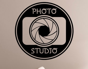 Photo Studio Sign Vinyl Decal Window Sticker Camera Art Decorations for Business Room Office Salon Photo Studio Wall Decor pst3
