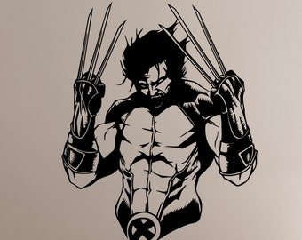 Wolverine Wall Decal Vinyl Sticker Comics Superhero Art X-Men Decorations for Home Teen Kids Boys Room Bedroom Playroom Decor wlv1