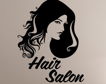 Hair Salon Wall Decal Vinyl Sticker Barber Barbershop Mirror Window Decorations Hairdressing Haircut Hairstyle Salon Decor hair3