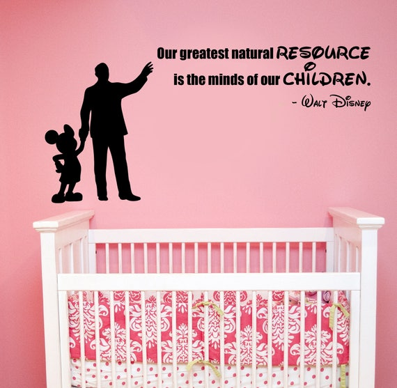 Walt Disney Quote Decal Mickey Mouse Sticker Vinyl Lettering Inspirational  Art Saying Silhouette Decorations for Home Kids Room Decor hq18