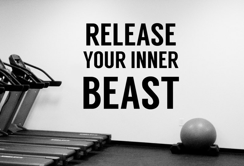 Gym Motivation Quote Wall Decal Workout Inspirational Vinyl Sticker Sports Decorations Fitness Club Studio Bodybuilding Center Decor Fgm1
