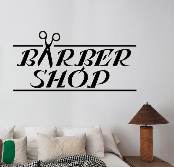 Barbershop Vinyl Decal Custom Wall Sticker Logo Art Barber/'s Hair Haircut Hairdressing Salon Window Decorations Interior Decor bsh2