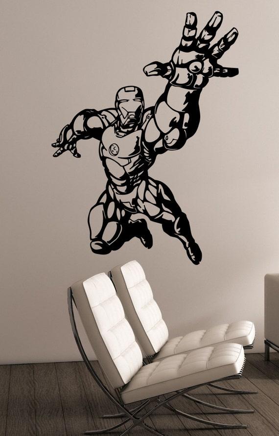 Personalised Marvels Thanos Gauntlet Kids Wall Art sticker Decal Bedroom