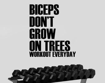 Fitness Wall Decal Workout Motivational Sticker Inspirational Vinyl Art Decorations Gym Center Studio Bodybuilding Club Decor Ideas fgm13