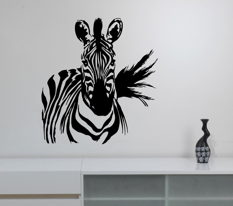 Zebra Aufkleber Vinyl Aufkleber Afrikanischen Pferd Wild