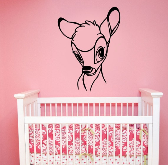 bambi wall sticker removable vinyl decal deer art disney   etsy