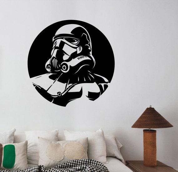 STAR WARS WALL STICKER STORM TROOPER LETTERING ART MURAL BEDROOM MURAL KIDS ROOM