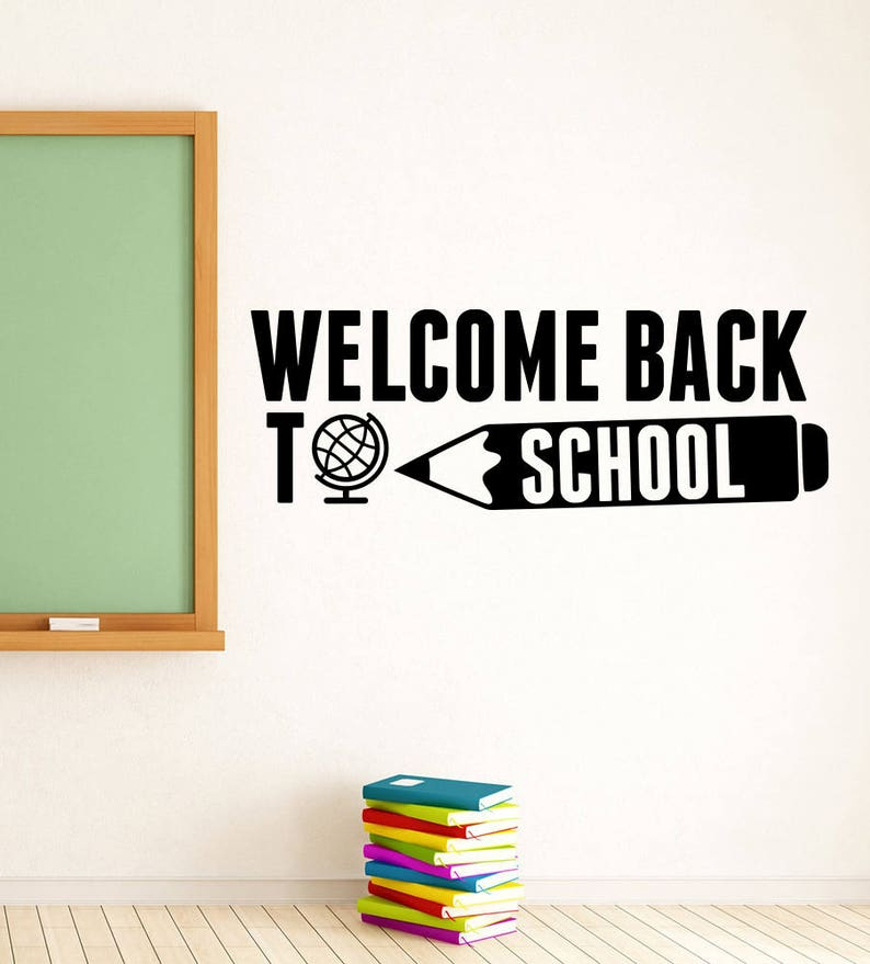 Welcome Back To School Decal Congratulations Banner Education Inspirational Quote Wall Sticker Vinyl Lettering Art Classroom Decor ed10