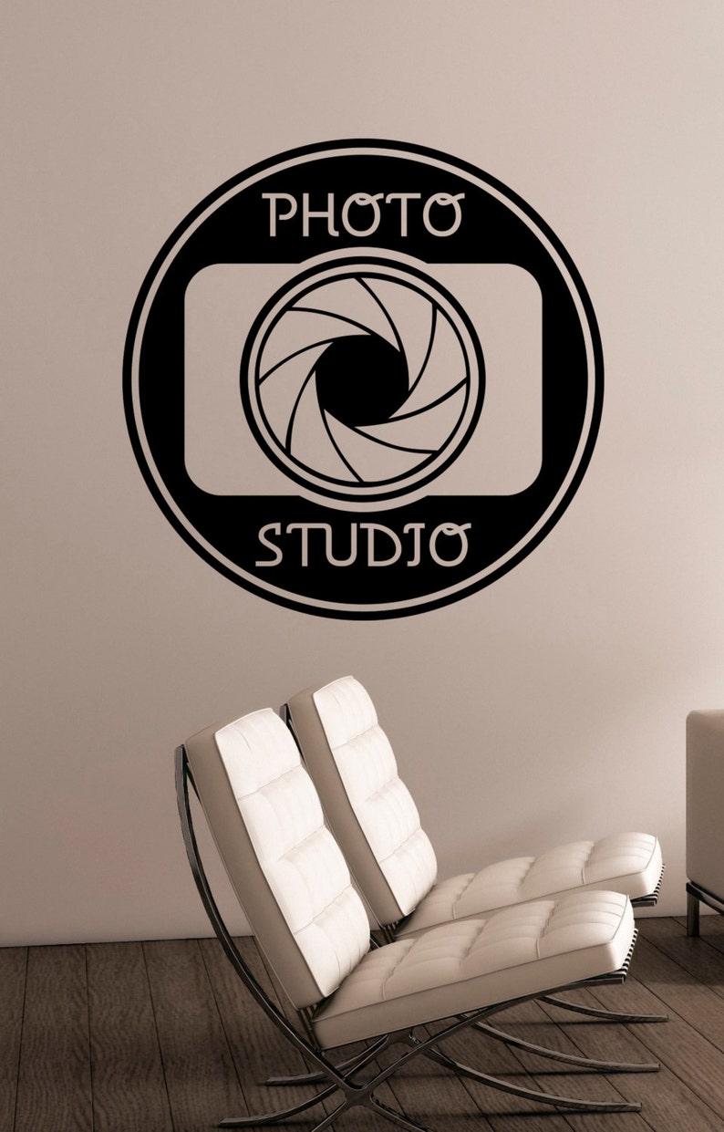 Photo Studio Sign Vinyl Decal Window Sticker Camera Art Decorations for Business Room Office Salon Photo Studio Wall Decor pst3