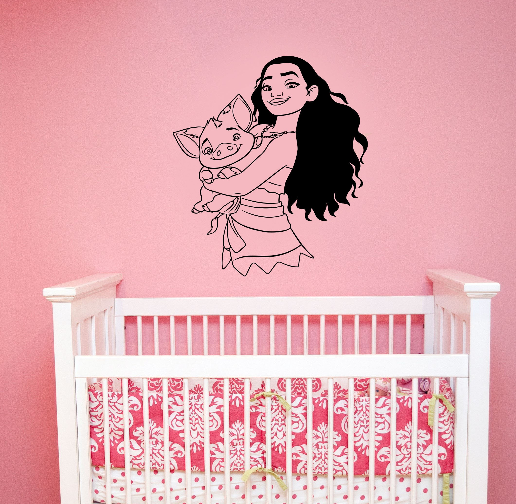 Moana Wall Decals Canada: Disney Wall Decal Moana And Pua Pig Vinyl Sticker Cartoon