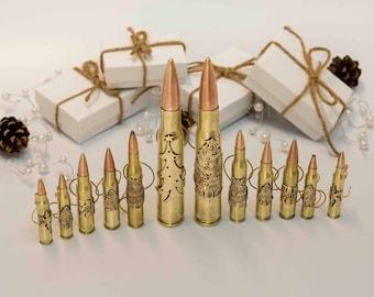 Bullet Christmas Tree ornament, manly Holiday decoration, 2nd amendment pro gun gift idea, handmade patriotic, firearms enthusiast, hunter