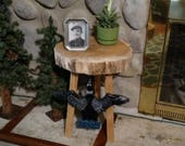 Wood Slice Table, Loon, Loon Wings, Cabin Stool, Accent Table, Tree Slice, Oak, End table, Coffee table, Piano bench
