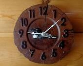 Loon Wood Slice Clock - Oak - 10 quot Ø