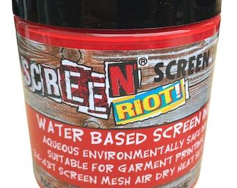 Water based screen printing ink air dry heat set, t shirt, paper, card, block printing.