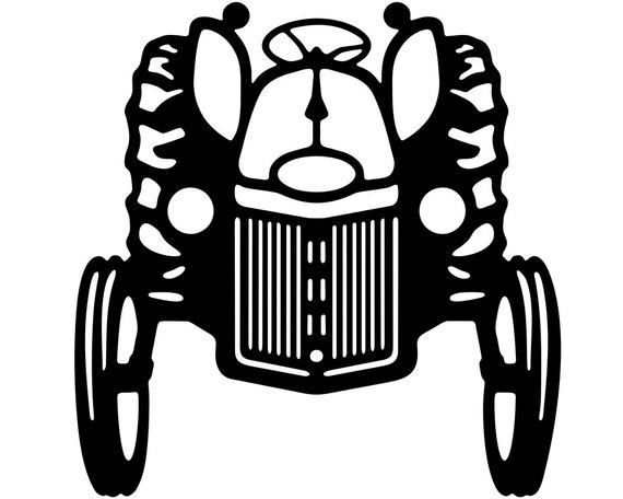 Farm Tractor Vinyl Window Decal Stickers Wholesale Decal Etsy